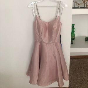 PromGirl Dresses - Blush pink never worn rhinestone strap dress